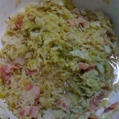 Norwegian Christmas Cabbage is essentially a kind of sweet and sour sauerkraut, spiced with caraway seeds.