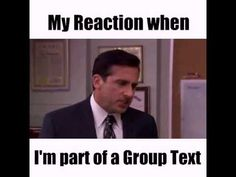 1dbaee78a13a3130e5a32f86cb77acb4 group text meme funny humor my reaction when i am part of a group text no god please no