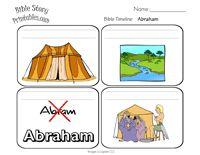 Tijnlijn Abraham 4 plaatjes gratis printen // Abraham timeline printable