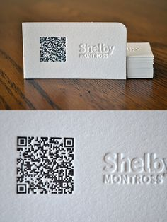 19 best business collateral images on pinterest visit cards currently browsing qr code letterpress for your design inspiration reheart Choice Image