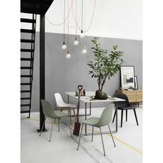 The Muuto Table from Finnish label Muuto was designed by Staffan Holm and is firmly in the tradition of modern Scandinavian design.As with all Muuto produ Half Painted Walls, Rooms Ideas, Berlin Design, Ideas Hogar, Interior Decorating, Interior Design, Studio Interior, Decorating Tips, Modern Interior