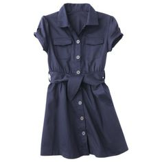 School uniform dress from Target.  French Toast® Girls' School Uniform Belted Safari Shirt Dress