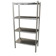4 Tier Stainless Shelving 900mm $459 1200mm $519 1500mm $619