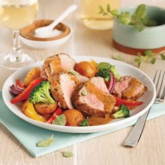 Filet de porc, sauce crémeuse à la moutarde - Je Cuisine Sauce Crémeuse, Filets, Pork Recipes, Potato Salad, Food And Drink, Fish, Meals