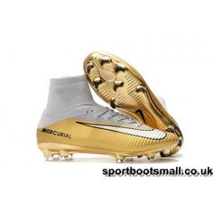 28046050f5ab3 Nike Kids Mercurial Superfly CR7 Quinto Triunfo FG Football Boots -  Gold/White/Black