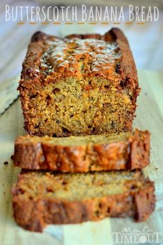 This Butterscotch Banana Bread is incredibly moist and delicious – definitely one recipe you NEED to try! | MomOnTimeout.com