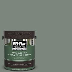 BEHR Premium Plus Ultra 1-gal. #N410-5 Village Green Semi-Gloss Enamel Exterior Paint