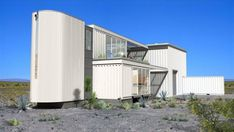 First Shipping Container House in Mojave Desert by Ecotech Design. Container houses are here taken to another level. If so far we've seen homes made in less professional manner, Ecotech Design introduces their version of a shipping container house. Cheap Shipping Containers, Buy Shipping Container, Shipping Container Buildings, Container Homes For Sale, Cargo Container Homes, Storage Container Homes, Container Cabin, Container House Plans, Container House Design