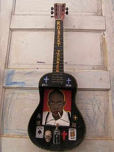 ROBERT JOHNSON SHADOW BOX GUITAR ART- DALTON ART