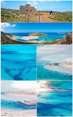 Cobalt turquoise and ultramarine blue of Ballos beach