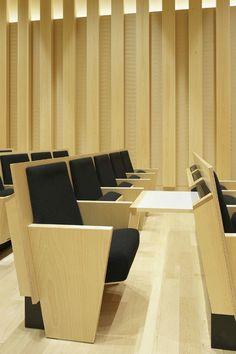 Auditorium Design, Auditorium Seating, Public Library Design, Hall Interior Design, Corporate Office Design, Function Room, Wall Design, Diy Furniture, Architecture Design