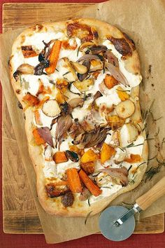 Roasted Fall Vegetable And Ricotta Pizza - Vegetarian Thanksgiving Dishes That Even Meat-Eaters Will Love - Photos