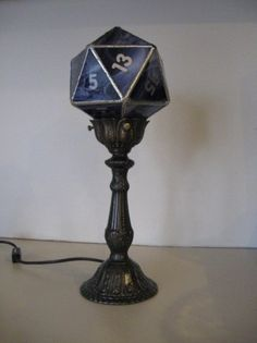 D20 stained glass lamps?  Wow!
