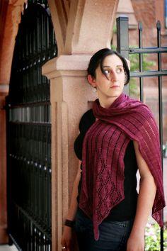 Free Knitting Pattern - Women's Shrugs, Wraps & Capes: Juno Regina Wrap