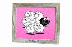 Black Sheep (Love) * Cute, Inspirational Wall Decor for Kids & Adults * Printable, Instant Download!