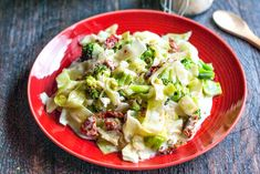 Creamy Sun Dried Tomato & Broccoli Cabbage - My Life Cookbook