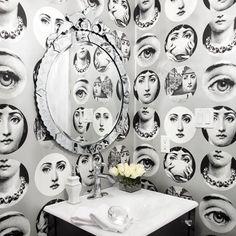 Kate & Harriet   Bathroom, sink, wallpaper, mirror - Interior