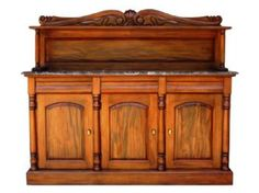 VICTORIAN STYLE MAHOGANY CHIFFONIER WITH A MARBLE TOP