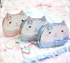 Mumu Sweet Cat Shaped Lolita Cross Body Bag