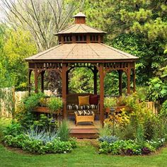 Beautiful Backyard Landscaping gazboo | 22 Beautiful Metal Gazebo and Wooden Gazebo Designs