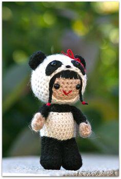 Ravelry: Pearl the panda girl amigurumi pattern pattern by Mia Zamora Johnson