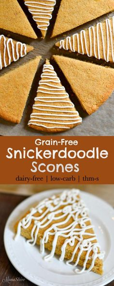Grain-Free Snickerdoodle Scones - Gluten-free, Dairy-free, Sugar-free, THM-S, Low-carb