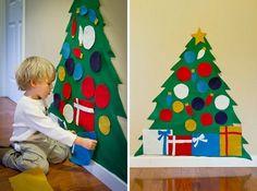 новогодняя елка на стене - Google Search
