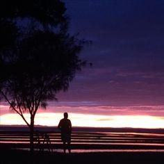 #sunrise on #sandgatebeach #waterfront #randomman #nofilter #stunning