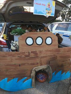 FBC Tallulah, LA Fall Carnival, Trunk or Treat  Noah's Ark Halloween Night, Halloween Treats, Halloween Party, Halloween Stuff, Trunk Or Treat, Diy Backdrop, Backdrops, Diy Costumes, Costume Ideas