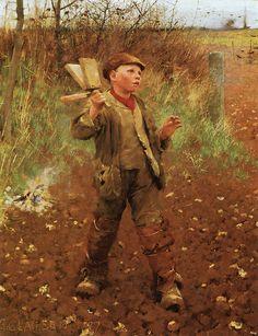 "Sir George Clausen (1852-1944), ""Bird-scaring"", 1887 by sofi01, via Flickr"