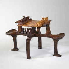 Wright-Chess set and table