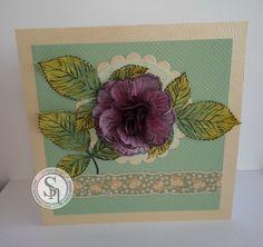 Sharon Goold - Sheena Rose stamp - Spectrum Noir Spectrum Sparkle pens - Vintage: Sage, Sand Dune, Macaroon, Peony + Smoked Quartz - #crafterscompanion #spectrumnoir