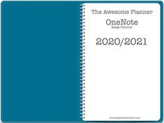 2020/2021 Mega OneNote Planner - Teal - 14 Month Digital PlannerAn academic year digital planner/calendar/notebook for OneNote - (May 2020 - June 2021)This planner has everything you need to plan out your month, week and days.... It has monthly calendar pages, a monthly dashboard, weekly horizontal planning pages and weekly hourly schedule pages. Undated daily planning pages are in the bonus section for you to add in where needed. It's one of the biggest, most comprehensive planners I have avail Calendar Notebook, Calendar Pages, Planner Pages, Weekly Planner, Planning Your Day, Daily Planning, One Note Microsoft, Best Planners, Teacher Planner