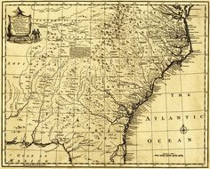 North and South Carolina & Georgia - (1767) - Panoramic Map