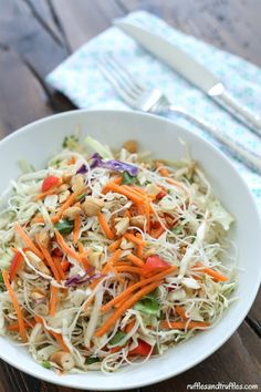 Easy Recipe for Crispy Asian Noodle Salad that is perfect for #WeekdaySupper