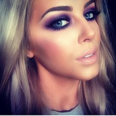 Purple smokey eye by Chloe boucher