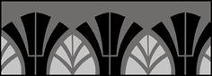 Art Deco Border No 149 stencils, stensils and stencles