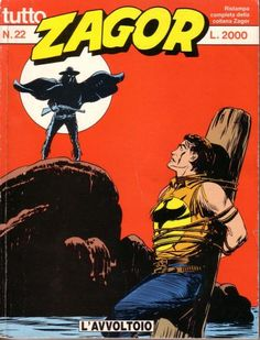 Zagor - Lo Spirito con la Scure Zagor…The Spirit with the Ax....as he was named by the native americans… 10 covers among the first hundred isssues. As one can see the inspiration of this atypical western is often close to weird tales… The series has 626 issues since 1965 and is still running. Created by Gallieno Ferri and Guido Nolitta. Written by Guido Nolitta (pseudonym of Sergio Bonelli) and mostly drawn - in the early years - by Gallieno Ferri.