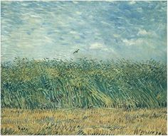 Vincent van Gogh Painting, Oil on Canvas Paris: Summer, 1887 Van Gogh Museum Amsterdam, The Netherlands, Europe F: 310, JH: 1274  Van Gogh: Wheat Field with a Lark Van Gogh Gallery