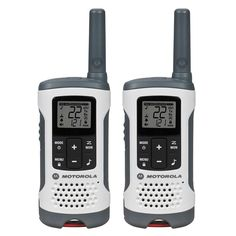 Talkabout T260 Rechargeable 2-Way Radio, White (2-Pack)