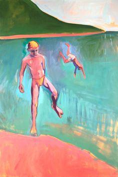 "Saatchi Art Artist Charlotte Evans; Painting, ""Ometepe (beach boys)"" #art"