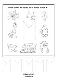 Písmenká - séria pracovných listov - Nasedeticky.sk Math Worksheets, Montessori, Education, Alphabet, Onderwijs, Learning