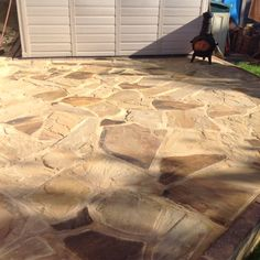 WOW WOW WOW  Look at our beautiful crazy paving laid in our customers garden #beautiful :)))