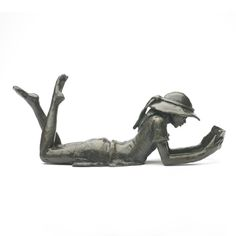 Solid bronze Large Lying Girl Wedgwood Museum Original Bronze Sculpture by Jonathan Sanders. Limited edition, hand cast in Britain. Girl Reading, Museum Collection, Hand Cast, Wedgwood, Bronze Sculpture, Sculptures, Poses, Lovely Things, The Originals