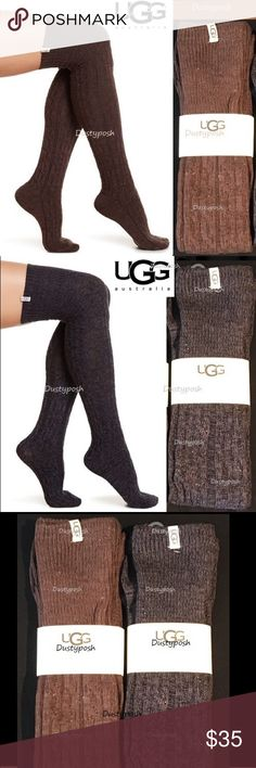 UGG Over The Knee Socks Cable Thigh High OTK New New in package, still sealed in the plastic also please have a nice cable knit pattern. 92% cotton 7% polyester. Awesome in so many ways. Rock them with boots, under your jeans, with shorts or just rock them around the house.                               U97 UGG Accessories Hosiery & Socks