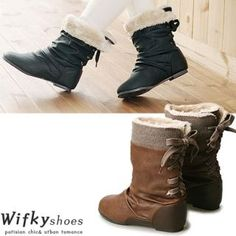 Buy 'Wifky – Fleece-Lined Bow-Accent Boots' with Free International Shipping at YesStyle.com. Browse and shop for thousands of Asian fashion items from South Korea and more!