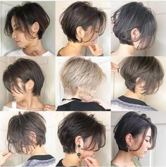 Most Remarkable Japanese Hairstyles 2019 Japanese Short can find Japanese hairstyles and more on our website.Most Remarkable Japanese Hairstyles 2019 . Trending Haircuts, Cool Haircuts, Hairstyles Haircuts, Trendy Hairstyles, Japanese Hairstyles, Girl Short Hair, Short Hair Cuts, Shot Hair Styles, Long Hair Styles