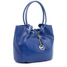 NWT MICHAEL KORS Cobalt Blue Leather Ring Shoulder Bag . Starting at $1