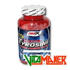TYROSINE by AMIX - Conf.da 120cps. integratore a base di Tirosina, aminoacido precursore di alcuni ormoni, tra cui la Tiroxina, ormone tiroideo che può aiutare a perdere grasso corporeo.