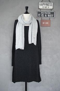 Cashmere Tunic/Dress, ALMOST BLACK